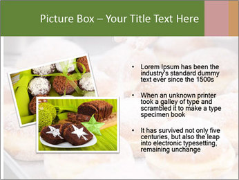 Baker pours sugar over pastry PowerPoint Template - Slide 20