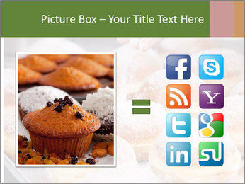 Baker pours sugar over pastry PowerPoint Template - Slide 21