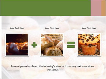 Baker pours sugar over pastry PowerPoint Template - Slide 22
