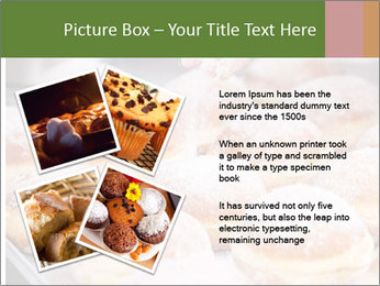 Baker pours sugar over pastry PowerPoint Template - Slide 23