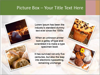 Baker pours sugar over pastry PowerPoint Template - Slide 24
