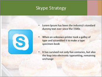 Baker pours sugar over pastry PowerPoint Template - Slide 8