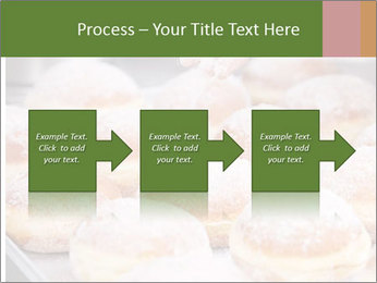 Baker pours sugar over pastry PowerPoint Template - Slide 88