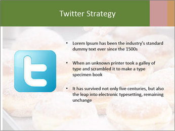 Baker pours sugar over pastry PowerPoint Template - Slide 9