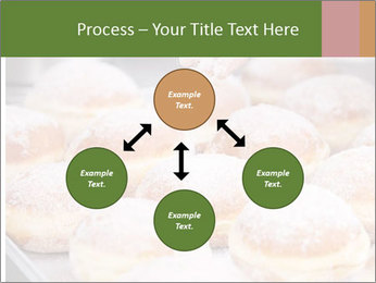Baker pours sugar over pastry PowerPoint Template - Slide 91