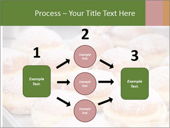 Baker pours sugar over pastry PowerPoint Template - Slide 92
