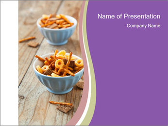 Party Snacks PowerPoint Template - Slide 1