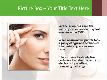 Woman Touches Face PowerPoint Template - Slide 13