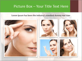 Woman Touches Face PowerPoint Template - Slide 19