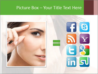 Woman Touches Face PowerPoint Template - Slide 21