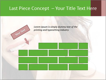 Woman Touches Face PowerPoint Template - Slide 46