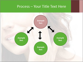 Woman Touches Face PowerPoint Template - Slide 91