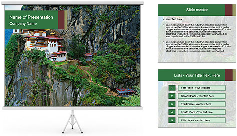 Taktsang Palphug Monastery PowerPoint Template