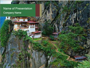 Taktsang Palphug Monastery PowerPoint Template - Slide 1