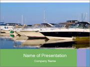 Pier And Motorboats PowerPoint Templates