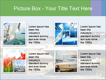 Pier And Motorboats PowerPoint Template - Slide 14