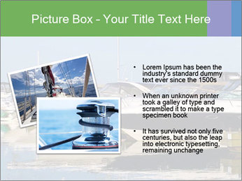 Pier And Motorboats PowerPoint Template - Slide 20