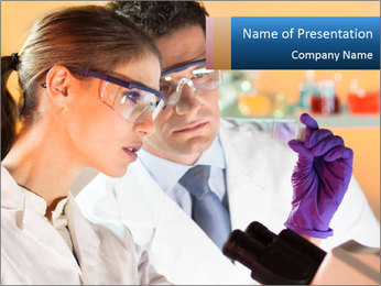 Lab Experiment PowerPoint Template - Slide 1