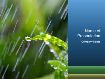 Seasonal Rain PowerPoint Template