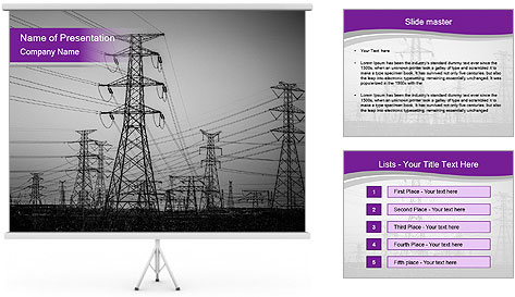 Electricity Lines PowerPoint Template