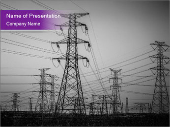 Electricity Lines PowerPoint Templates - Slide 1