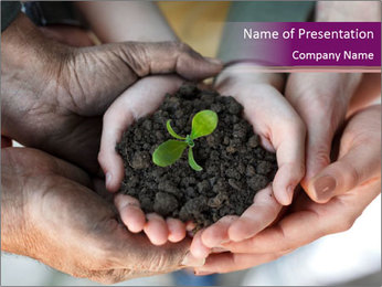 Farmers family hands PowerPoint Template