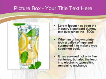 Glass of ice tea with ice-cubes PowerPoint Templates - Slide 13