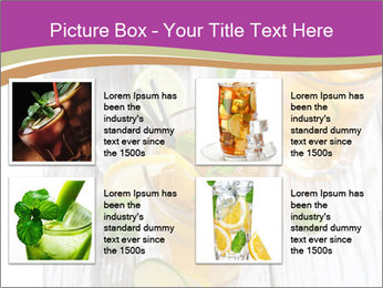 Glass of ice tea with ice-cubes PowerPoint Templates - Slide 14