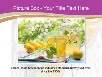 Glass of ice tea with ice-cubes PowerPoint Templates - Slide 15