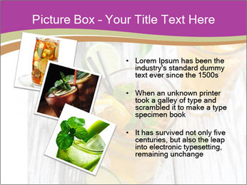Glass of ice tea with ice-cubes PowerPoint Templates - Slide 17