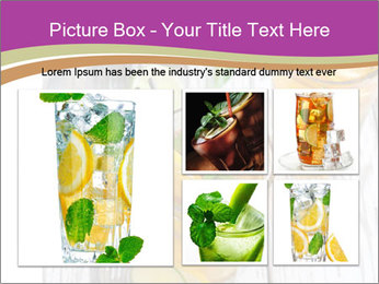 Glass of ice tea with ice-cubes PowerPoint Templates - Slide 19