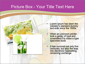 Glass of ice tea with ice-cubes PowerPoint Templates - Slide 20