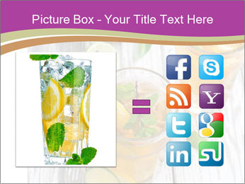 Glass of ice tea with ice-cubes PowerPoint Templates - Slide 21