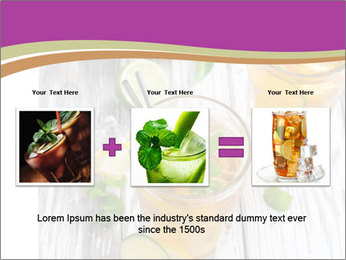 Glass of ice tea with ice-cubes PowerPoint Templates - Slide 22