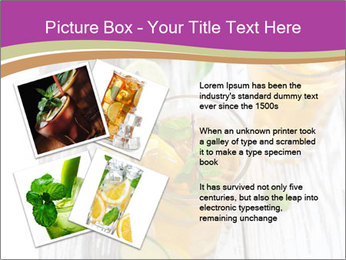 Glass of ice tea with ice-cubes PowerPoint Templates - Slide 23