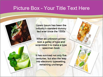 Glass of ice tea with ice-cubes PowerPoint Templates - Slide 24