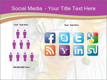Glass of ice tea with ice-cubes PowerPoint Templates - Slide 5