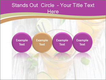 Glass of ice tea with ice-cubes PowerPoint Templates - Slide 76