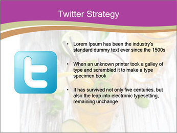 Glass of ice tea with ice-cubes PowerPoint Templates - Slide 9