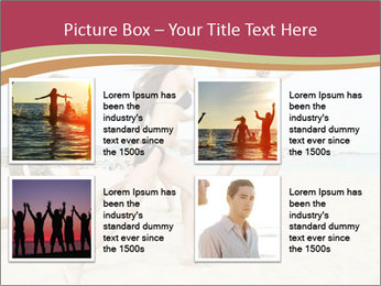 Group of five friends running together PowerPoint Template - Slide 14