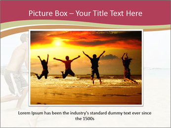Group of five friends running together PowerPoint Template - Slide 15