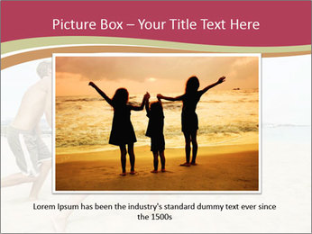 Group of five friends running together PowerPoint Template - Slide 16