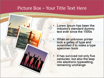 Group of five friends running together PowerPoint Template - Slide 17