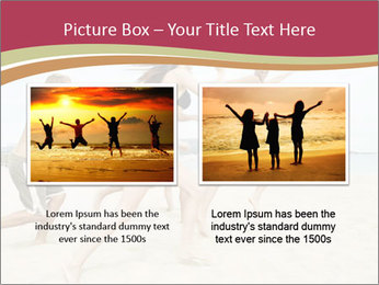 Group of five friends running together PowerPoint Template - Slide 18
