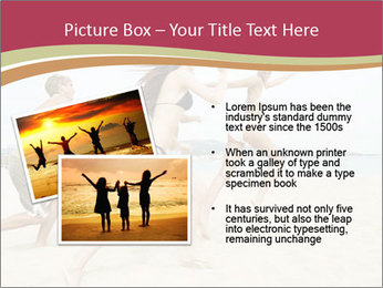 Group of five friends running together PowerPoint Template - Slide 20