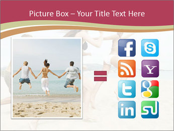 Group of five friends running together PowerPoint Template - Slide 21