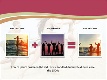 Group of five friends running together PowerPoint Template - Slide 22