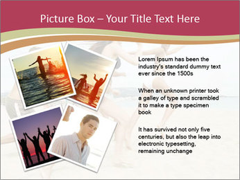 Group of five friends running together PowerPoint Template - Slide 23