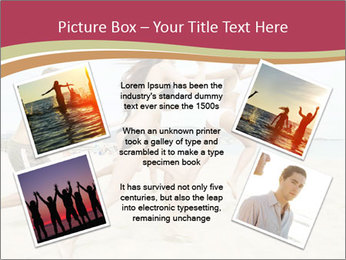 Group of five friends running together PowerPoint Template - Slide 24