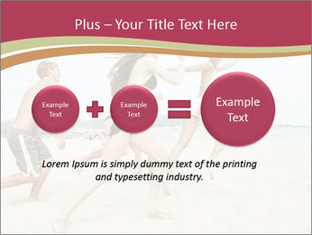 Group of five friends running together PowerPoint Template - Slide 75